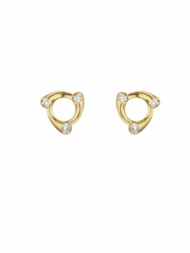 MAGIC Circle Yellow Gold & Diamond Earrings - 0