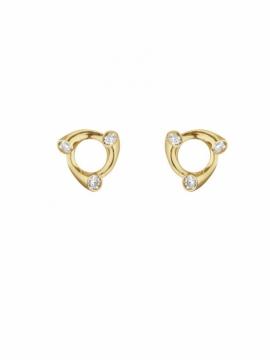 MAGIC Circle Yellow Gold & Diamond Earrings - 0