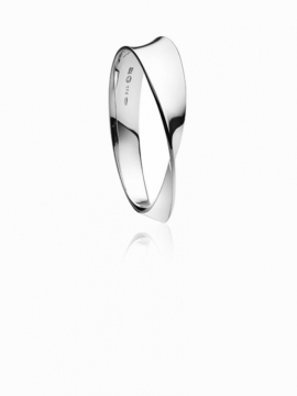 MÖBIUS Silver Bangle - 0