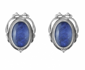 2017 HERITAGE Earclips with Sodalite & Rock crystal
