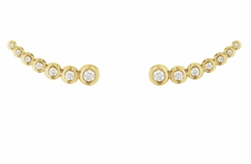 AURORA Yellow Gold Climber Earrings