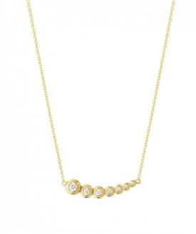 AURORA Horizontal Yellow Gold DiamondPendant