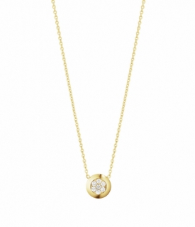 AURORA Yellow Gold Diamond Pendant