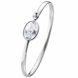 SAVANNAH bangle  sterling silver with rock crystal