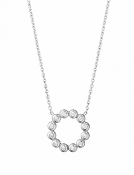 AURORA Circle White Gold Diamond Pendant