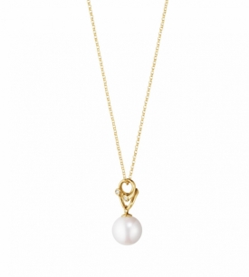 MAGIC Yellow Gold and Pearl Pendant in 18ct Yellow Gold, with white Freshwater Cultured Pearls and Diamonds