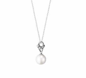 MAGIC Pearl Pendant in 18ct white gold, white Freshwater Cultured Pearls and Diamonds