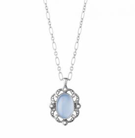 2018 HERITAGE pendant with blue chalcedony