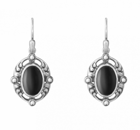 2018 HERITAGE earrings with black onyx