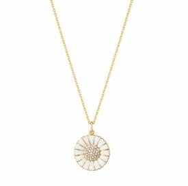 Gold plated Diamond Daisy Pendant