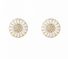 DAISY Earrings with Diamonds 18ct gold plated sterling silver