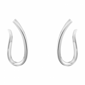 Georg Jensen INFINITY Long Looped Earrings in sterling silver