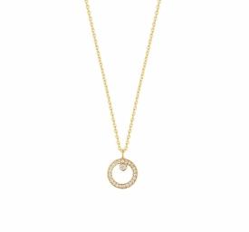 HALO Pendant in 18ct Yellow Gold with 0.06ct Brilliant Cut Diamonds