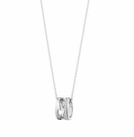 FUSION OPEN PENDANT 1638 White Gold Pavé Diamonds