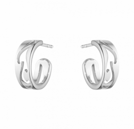 FUSION OPEN EARHOOP 1638 White Gold