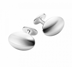 MEN'S CLASSIC SMOOTH Oval Cufflinks
