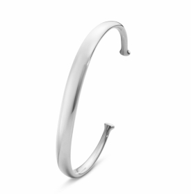 MEN'S CLASSIC Silver Bangle with Gold Detail