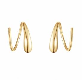 MERCY 18ct Yellow Gold Swirl Earrings, Spiral Earrings