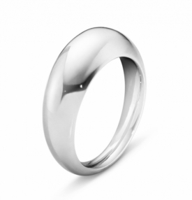 CURVE Slim Silver Ring