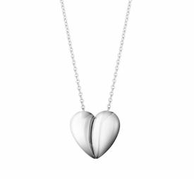 CURVE Heart in Silver Pendant