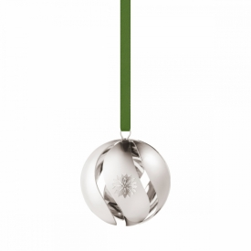 2020 Christmas Ball Bauble in Palladium plated brass