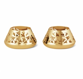 GJ Christmas 2020 Ice Flower Tealight set in 18 ct gold plated stainless steel