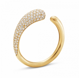 MERCY 18ct Yellow Gold Mini Ring with pavé Diamonds