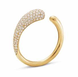 MERCY 18ct Yellow Gold Mini Ring with pavé Diamonds