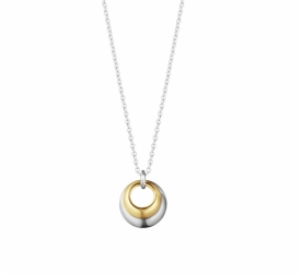 CURVE Pendant in Silver and Yellow Gold