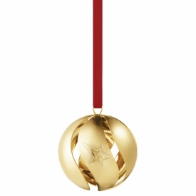 2021 Christmas Ball 18ct Gold-Plated Brass at Jeremy Bloomfield