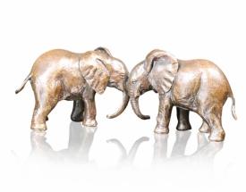 Richard Cooper Bronze Best Friends Elephants
