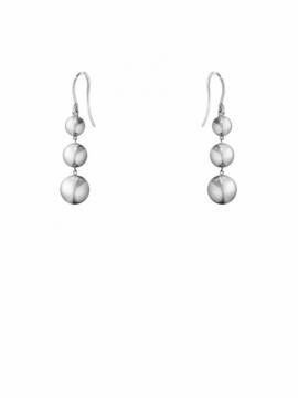 MOONLIGHT GRAPES Triple Silver Earhooks - 0