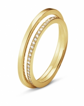HALO Ring 18ct Yellow Gold with 0.18ct Brilliant Cut Diamonds
