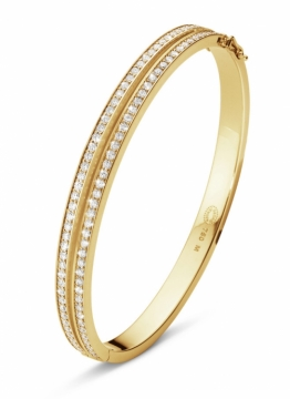 HALO bangle  in 18ct Yellow Gold with Brilliant Cut Diamonds