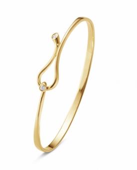 MAGIC Loop Bangle in 18ct Yellow Gold and Diamonds by Regitze Overgaard