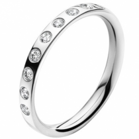 MAGIC Ring In 18ct White Gold with 0.18 ct. Diamonds