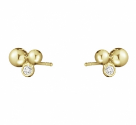 MOONLIGHT GRAPES 18ct Gold Cluster Stud Earrings with Diamonds