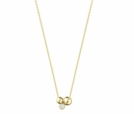 MOONLIGHT GRAPES 18ct Gold Cluster Stud Pendant with Diamond