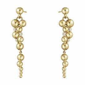 MOONLIGHT GRAPES 18ct Gold Long Droplet Earrings with Diamonds