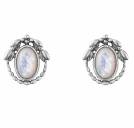 2021 HERITAGE Mother-Of-Pearl Earclips BY Georg Jensen