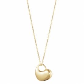Asymmetric Heart Pendant in 18ct Gold