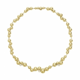 MOONLIGHT GRAPES 18ct Yellow Gold Necklace with Diamonds