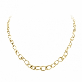 OFFSPRING Graduated Link Necklace in 18ct Yellow Gold