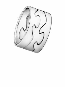 FUSION 3-Part 18ct White Gold Ring - 0