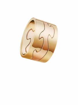 FUSION 3-Part Yellow Gold and Rose Gold Ring - 0
