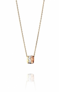 FUSION 18ct Yellow White and Rose Gold Pendant with Diamonds