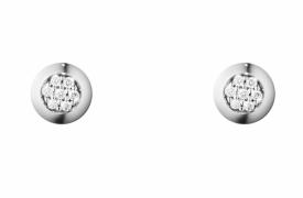 AURORA White Gold Pavé Diamond Earrings