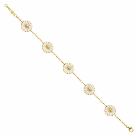 DAISY Chain Bracelet, Gold Plated Silver
