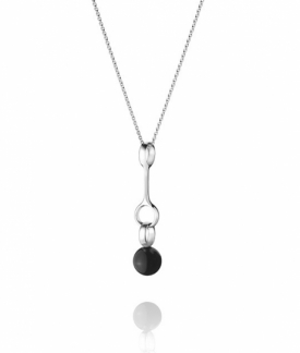 SPHERE silver pendant with black onyx