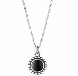MOONLIGHT BLOSSOM Black Onyx Round Pendant